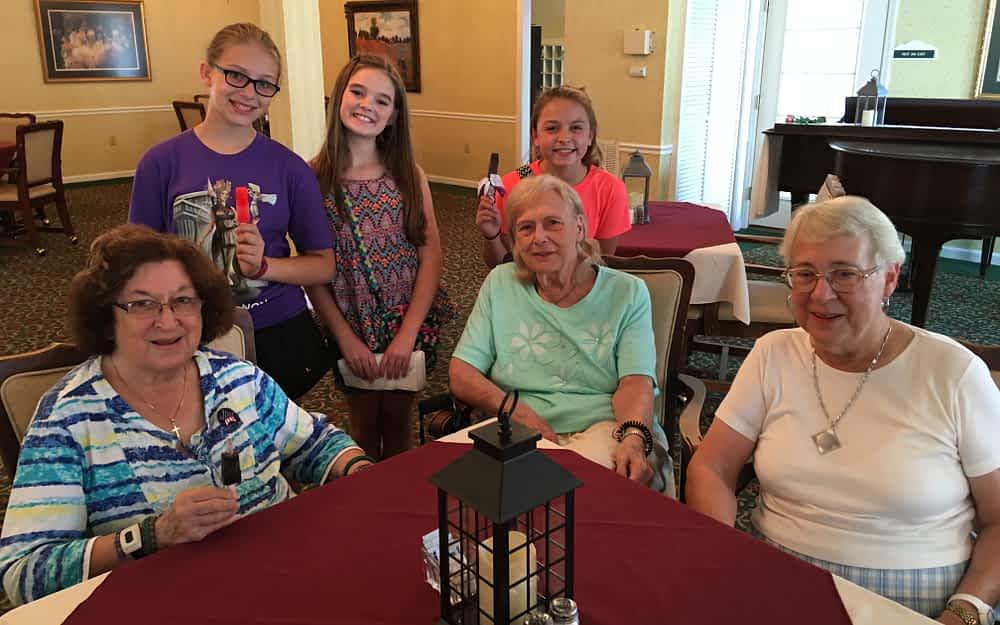 Morning Pointe Celebrates Birthdays With Calhoun Middle