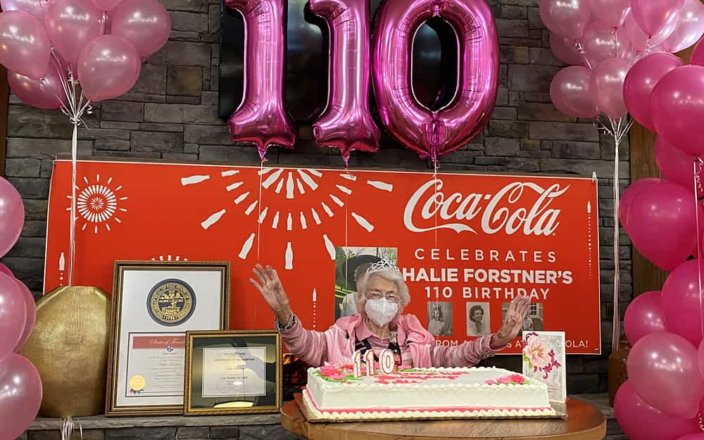 Morning Pointe of Chattanooga Celebrates 110-Year-Old Resident's Birthday with Coca-Cola and a Parade
