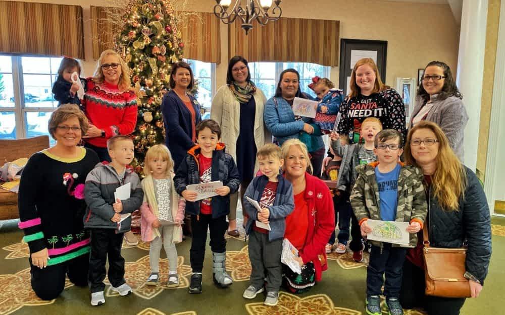 Grace Baptist Preschoolers Deliver Christmas Cards, Sing Carols at Morning Pointe
