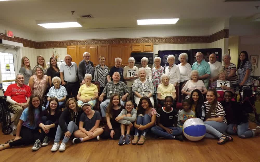 Morning Pointe Receives Visit From Local Youth Group