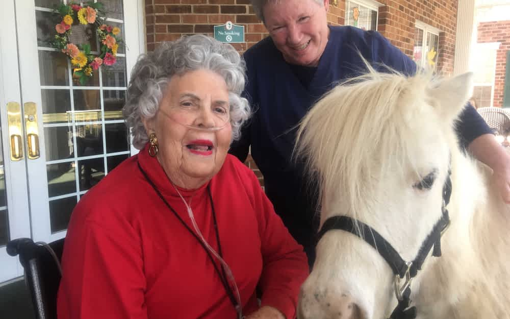 """Morning Pointe Associate Brings """"Pony Therapy"""" to Residents"""