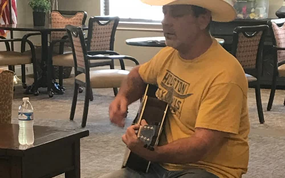 Local Business Owner Wows Morning Pointe Residents with Music