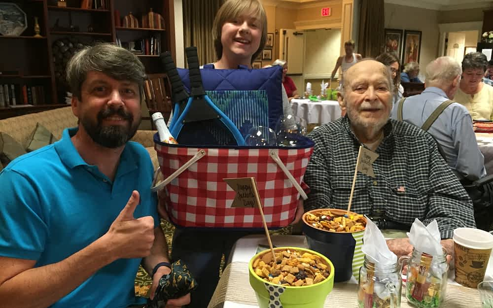 Fathers at Morning Pointe of Hixson enjoyed giveaways, games and great food during the assisted living community's Father's Day and Fourth of July celebration.