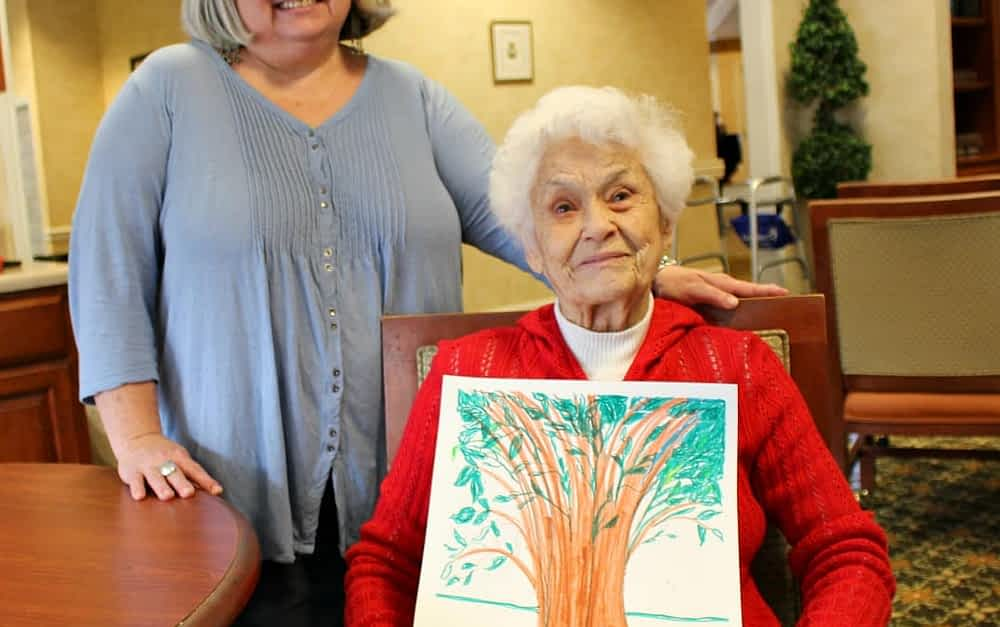 Morning Pointe Seniors 'Color Themselves' in Art Therapy