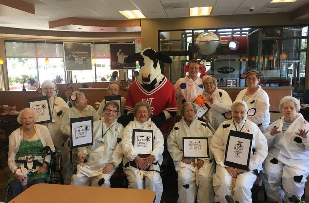 Morning Pointe Seniors Celebrate Cow Appreciation Day