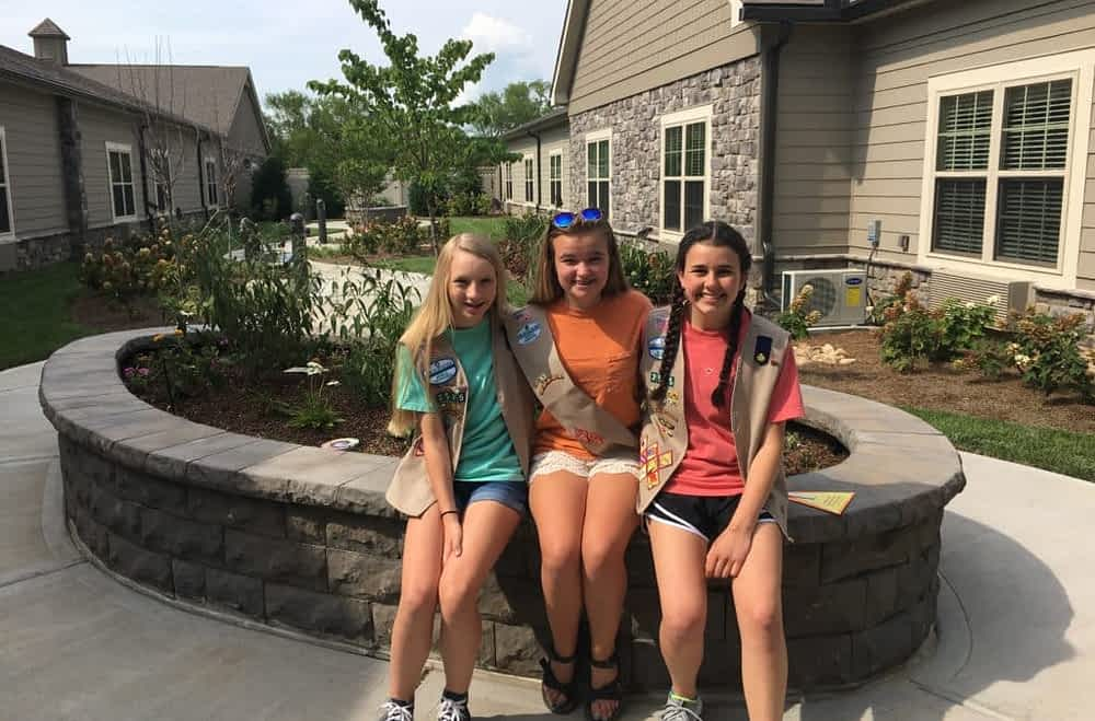 Local Girl Scout Troop Brings Butterfly Garden to Morning Pointe