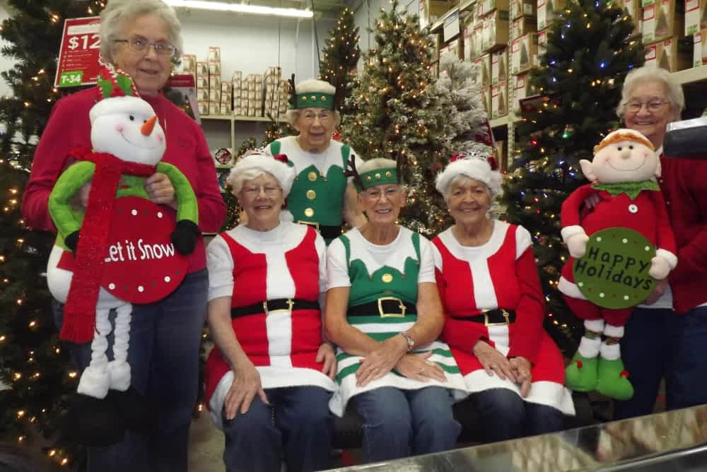 As part of Morning Pointe's life enrichment program, the seniors celebrate the season wherever they go, as they take trips to their favorite stores to prepare for all of the holiday happenings at the assisted living and memory care community.