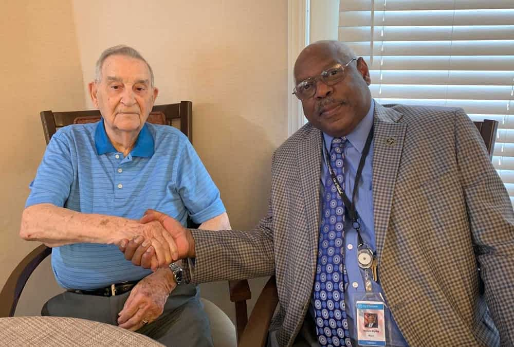Morning Pointe Resident, D-Day Veteran Honored at Anniversary Celebration
