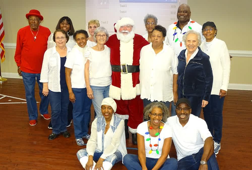 Eastgate Senior Steppers, Santa Perform at Morning Pointe