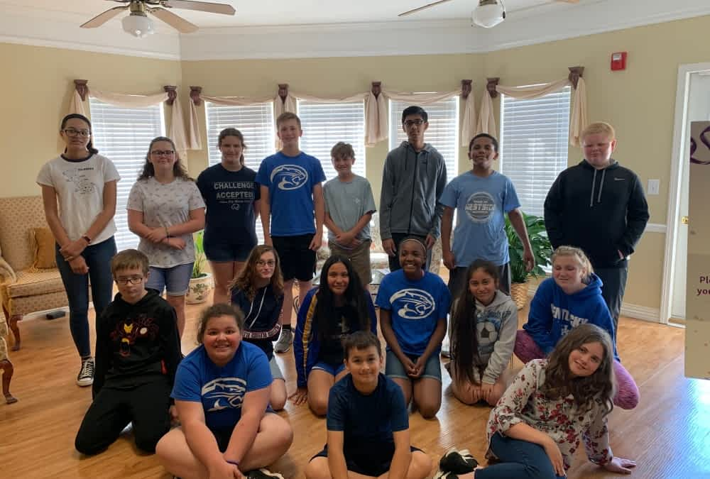 ACMS Students Honor Columbine Victim's Memory with Community Service at Morning Pointe