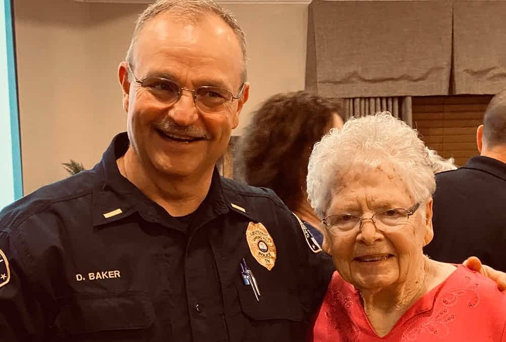 Local Police and Fire Departments Join Morning Pointe Residents for Valentine's Day Dance