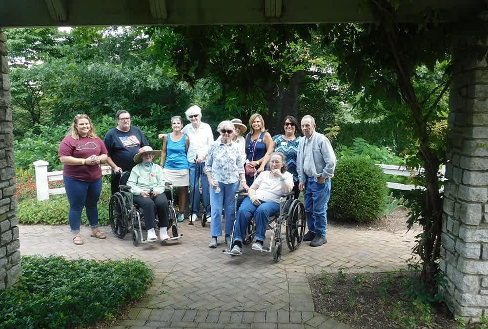 Morning Pointe Residents Visit Arboretum in Lexington