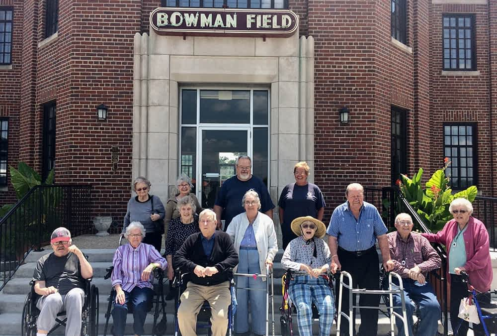 Morning Pointe Residents Visit Historic Airport