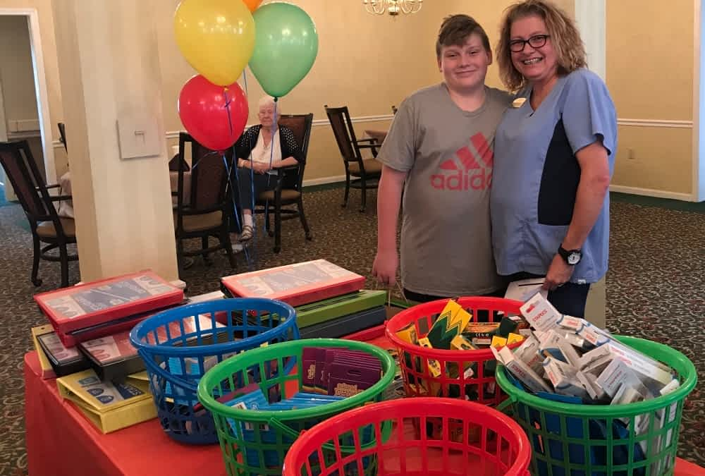 Community Partners Donate School Supplies to Morning Pointe Associates