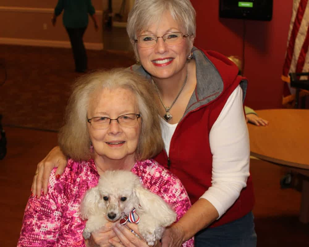 As part of Morning Pointe's Meaningful Day(tm) program, pet parents are invited to bring their furry and four-legged friends to offer seniors the many benefits of pet therapy.
