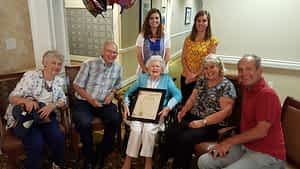 """Morning Pointe of Lenoir residents, associates and friends came together June 10 to honor a city proclamation declaring the day """"Bleeka Miller Day""""-- a day that is also the assisted living resident's 103rd birthday."""