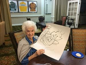 At age 15, Duane Abel became the youngest syndicated cartoonist and has since founded Corkey Comics. Today he continues to inspire audiences, like the residents at Morning Pointe of Louisville (KY), to follow their dreams through drawing and storytelling.