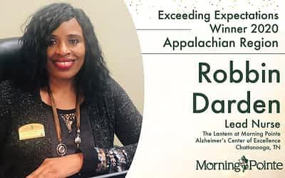 Morning Pointe Senior Living Awards Chattanooga Lead Nurse Robbin Darden With Regional Exceeding Expectation Award