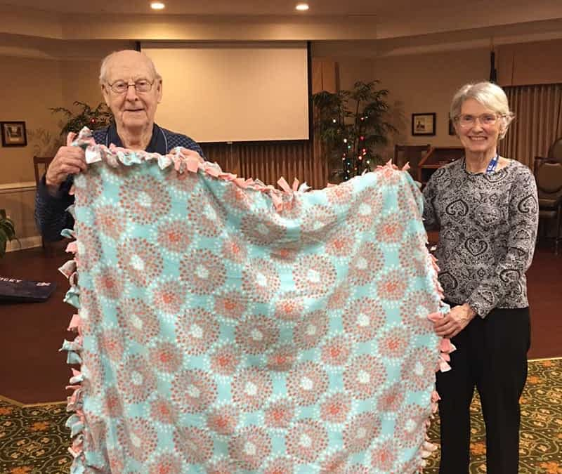 Morning Pointe Residents Resolve to Make Blankets for Charity in 2019