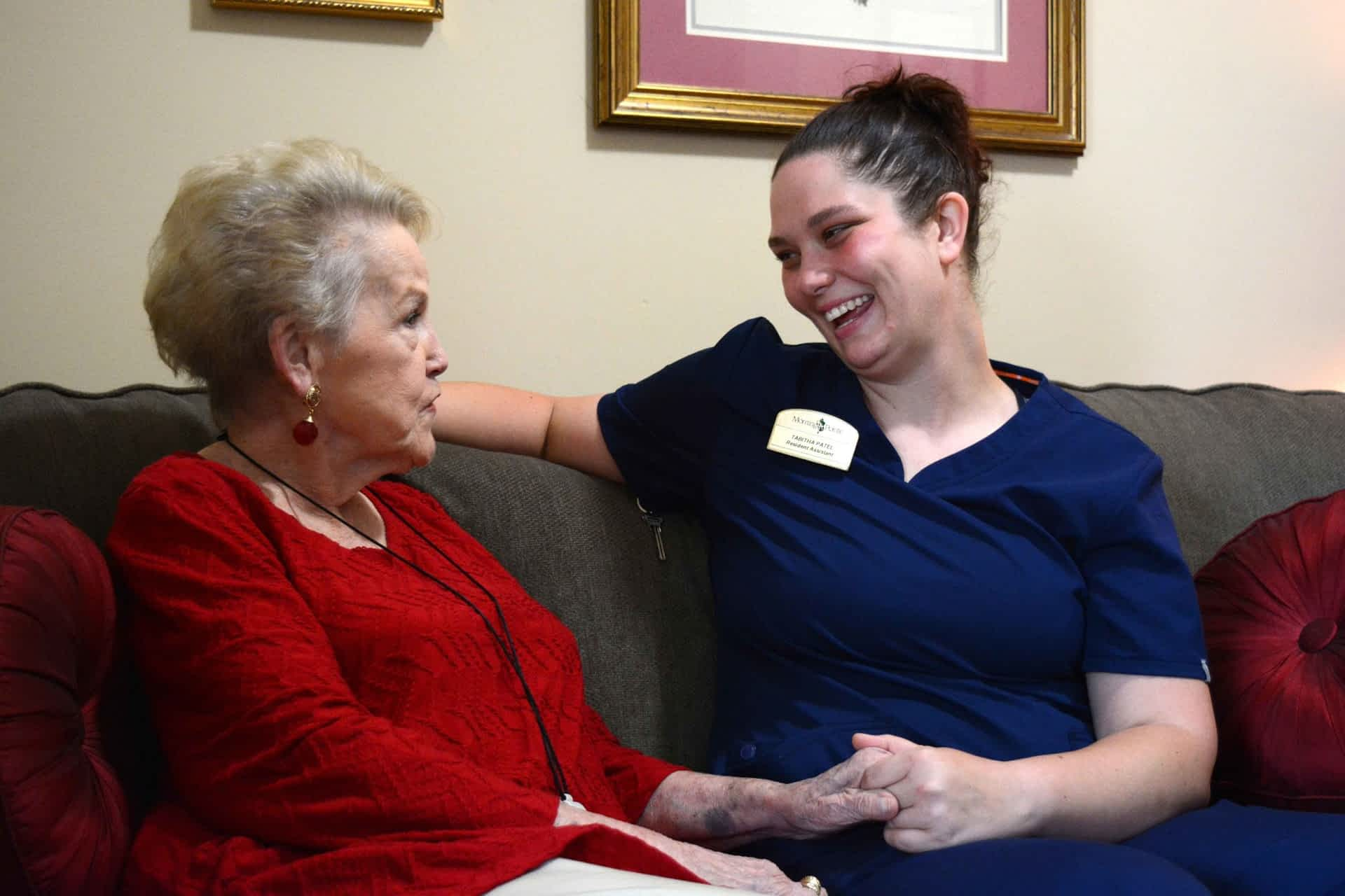Resident Assistant at Morning Pointe assisting resident
