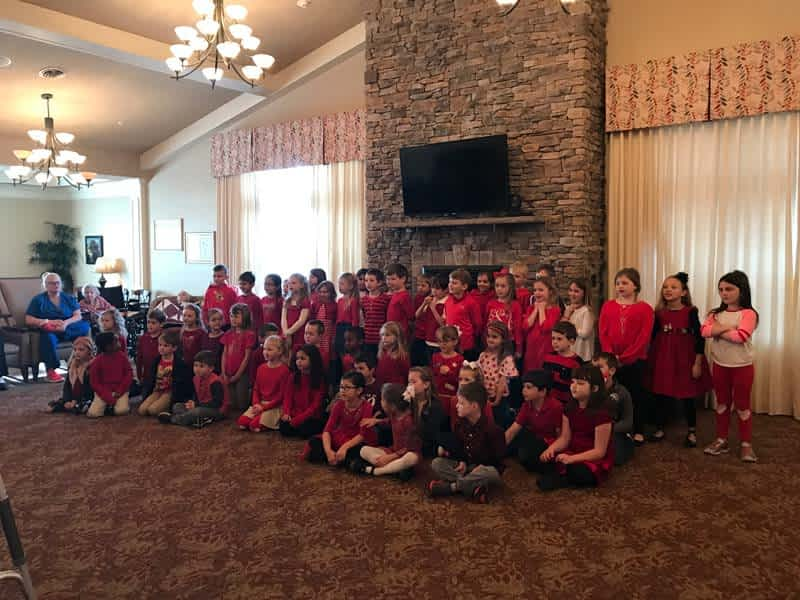 Concord Christian School Students Visit Morning Pointe