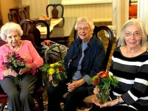 The Capital City Garden Club Visits Longtime Member at Morning Pointe