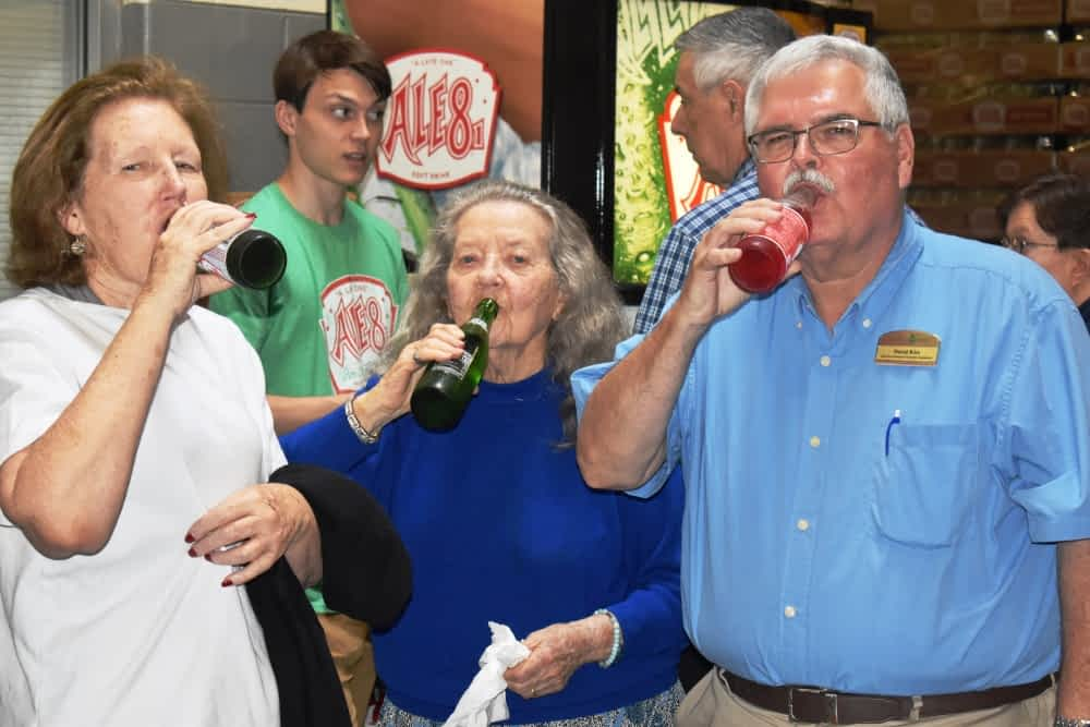 Morning Pointe Residents Visit Ale-8-One Bottling Company