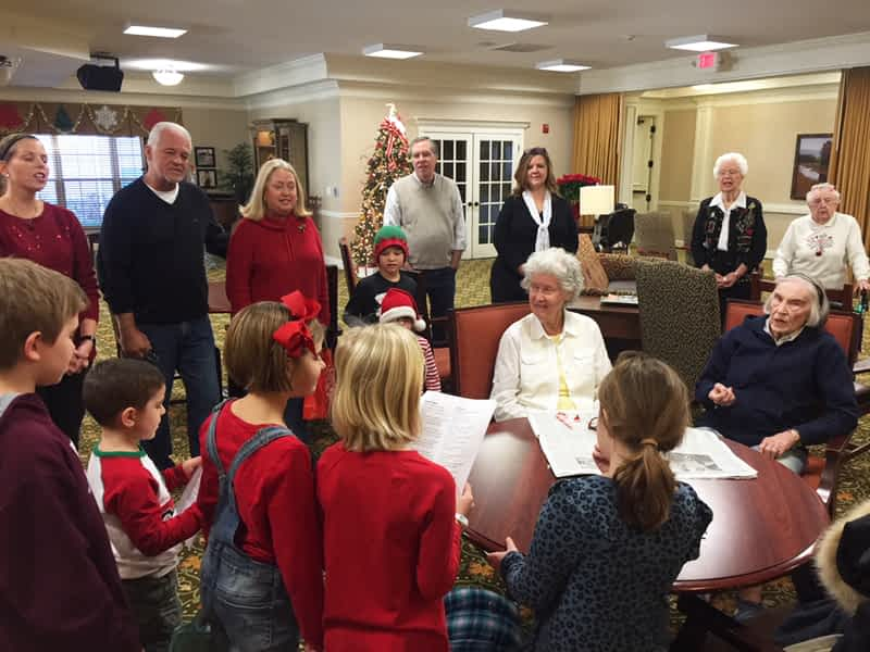 Otter Creek Church of Christ Carolers Spread Christmas Cheer at Morning Pointe