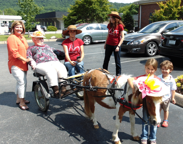 Morning Pointe Residents Meet Celebrity Horse