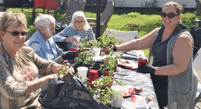 Morning Pointe Residents Make Fun Flower Pots for Nurses