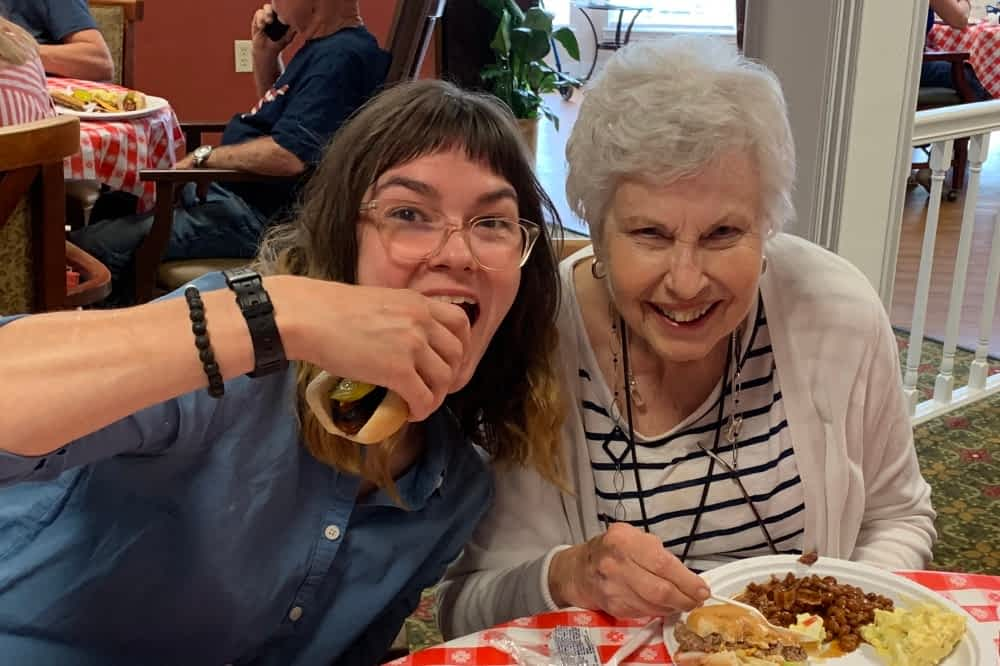 Morning Pointe Hosts Community-Wide Independence Day Cookout