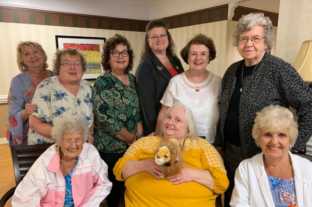 Local Lions Club Visits Former President at Morning Pointe