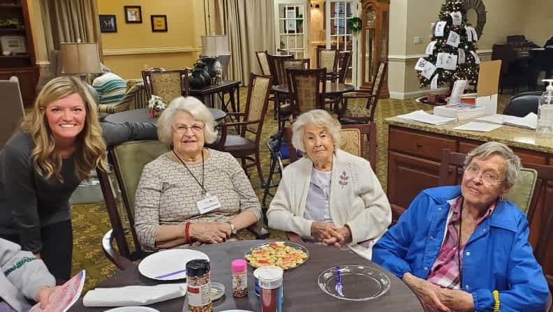 TVA Credit Union Volunteer Bakes Holiday Cookies with Morning Pointe Residents