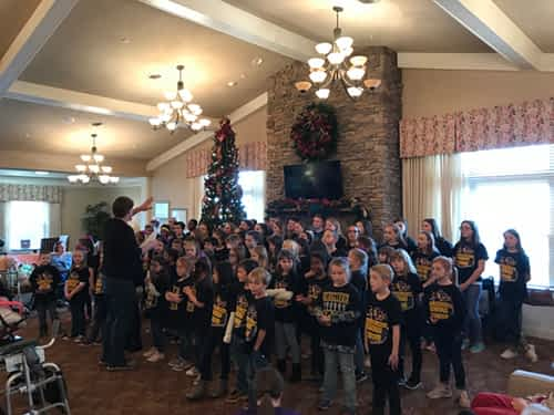 Philadelphia Elementary Show Choir Rings in the Holidays at Morning Pointe