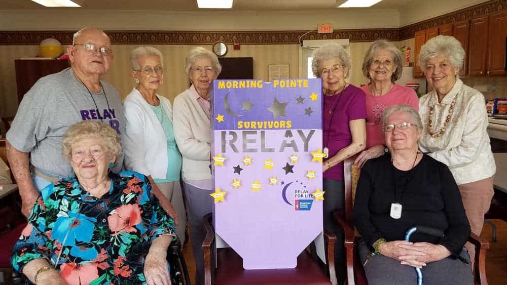 Morning Pointe Residents Support Relay for Life