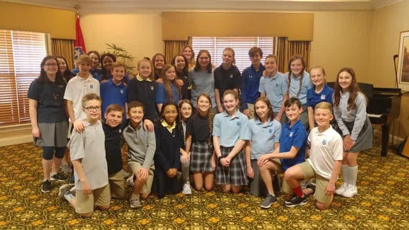 Boyd-Buchanan Sixth Grade Choir Performs Annual Roadshow at Morning Pointe