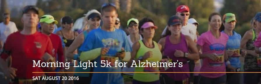 Morning Pointe Presents Aug. 20 Morning Light 5k Run/Walk for Alzheimer's