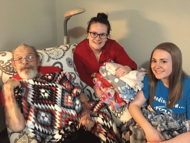 Boyle County High make Blankets for Morning Pointe Seniors