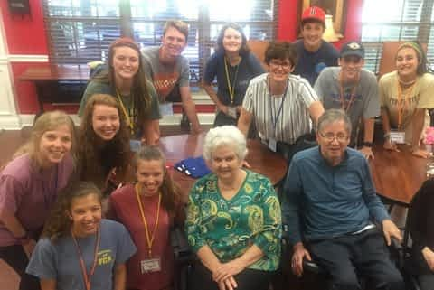 Brentwood UMC Youth Outreach Program Volunteers at Morning Pointe