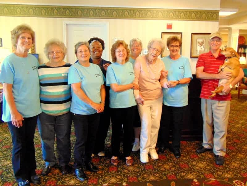 Morning Pointe Residents Move their Feet with the Capital Steppers