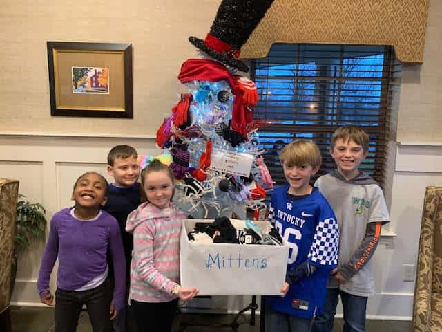 Woodlawn Elementary, Morning Pointe Partner for Glove Drive