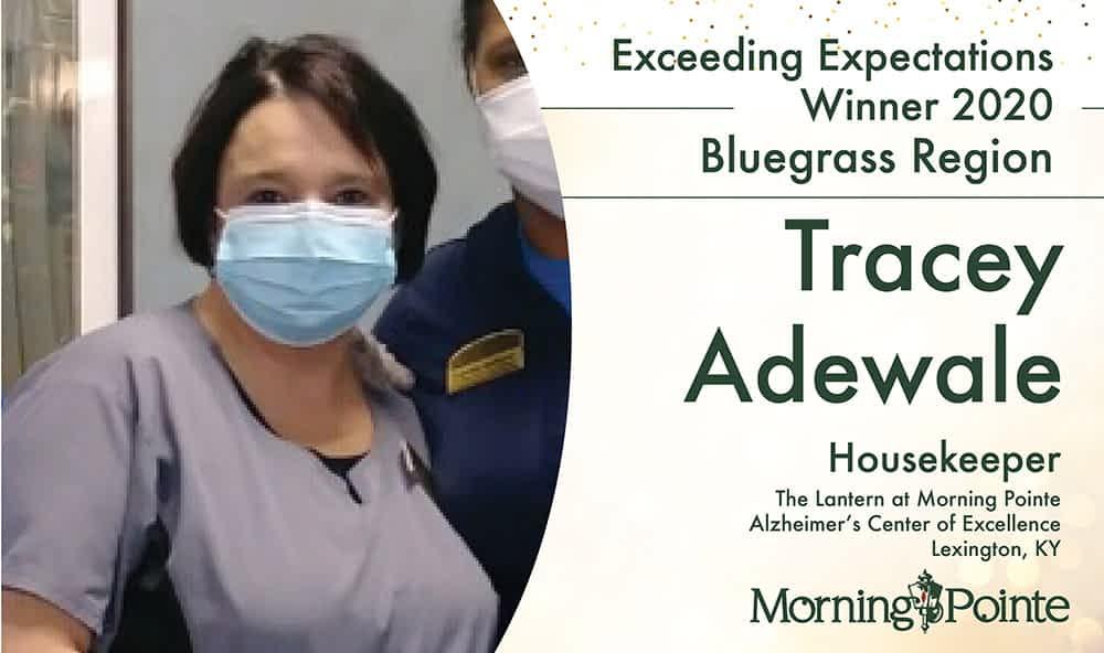 Morning Pointe Senior Living Awards Lexington Housekeeper Tracey Adewale With Regional Exceeding Expectation Award