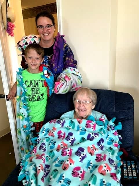 Choateville Christian Sends Cozy Blankets to Morning Pointe