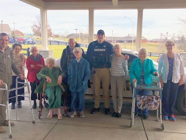 """Morning Pointe Residents Say """"Thank You"""" to Local Sheriff's Department"""