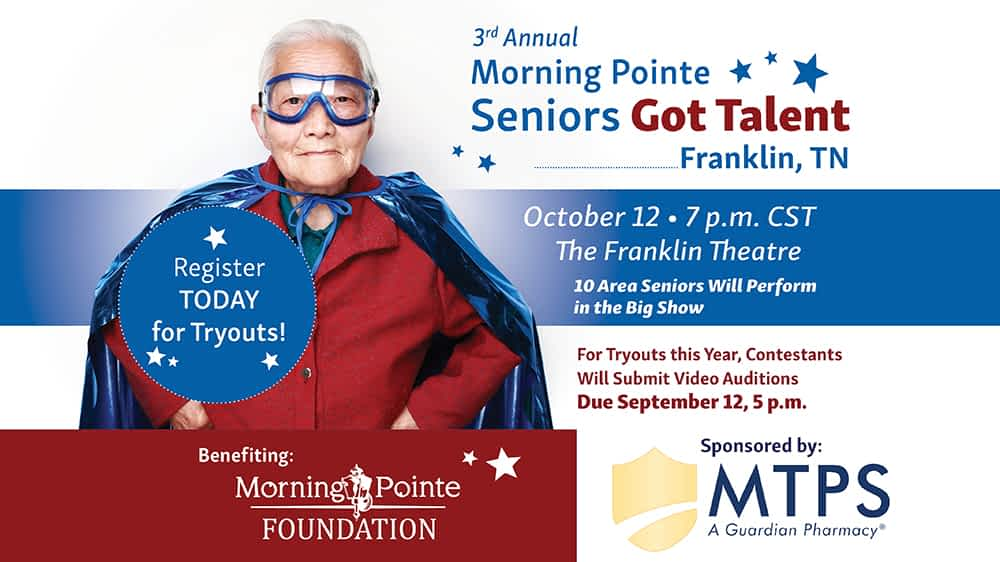 """Morning Pointe """"Seniors Got Talent, Franklin Competition Set For October 12 at The Franklin Theatre"""