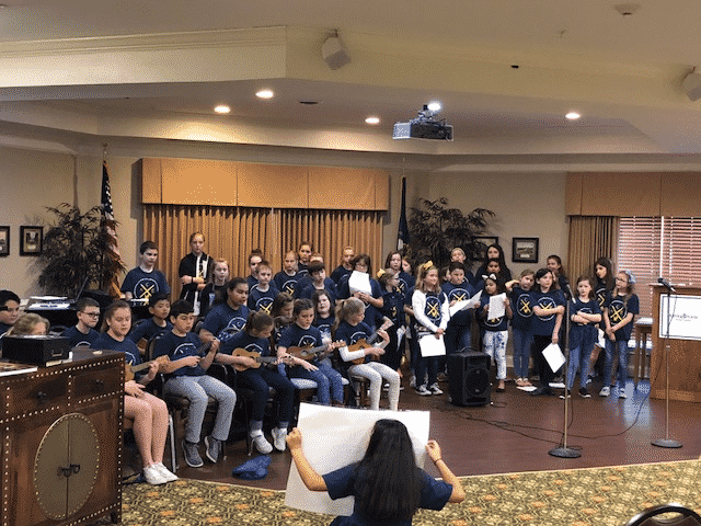 Athens-Chilesburg Elementary Entertains Morning Pointe Residents
