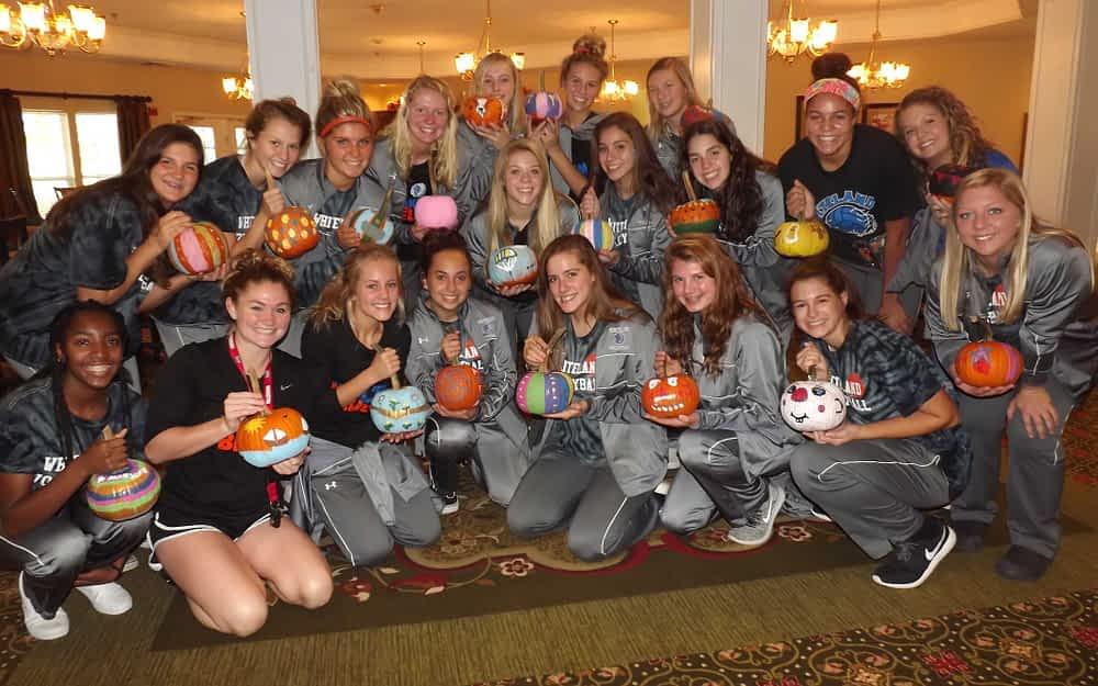 Whiteland High School Volleyball Team Visits Morning Pointe