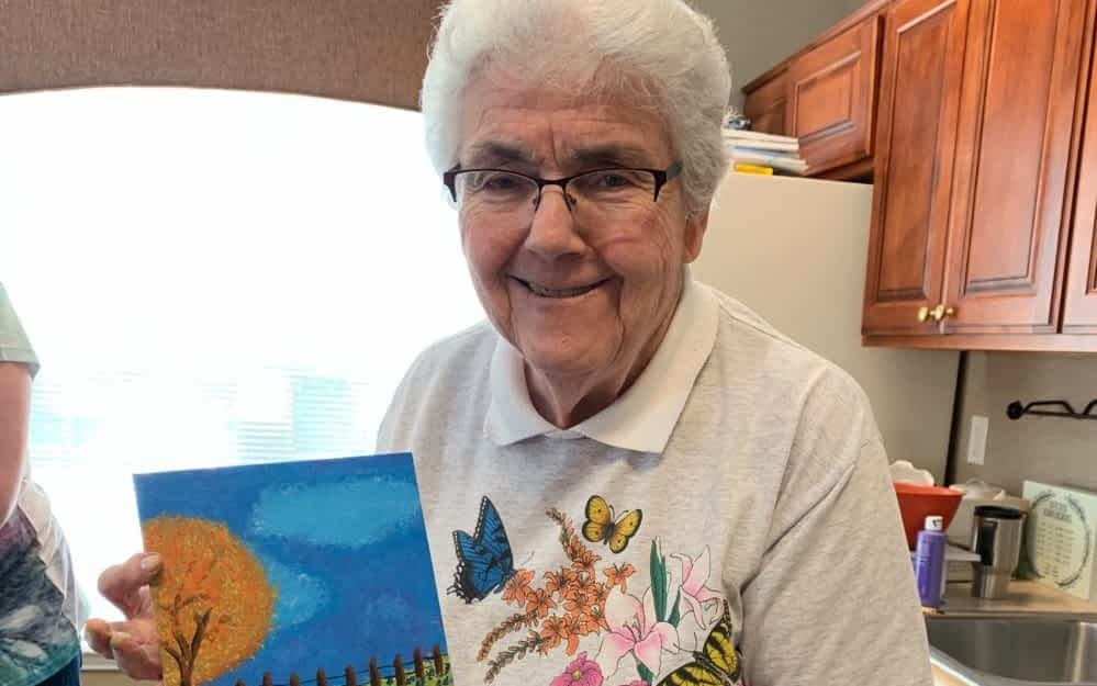 Morning Pointe Art Therapy Painting Classes Provide Challenge and Relaxation