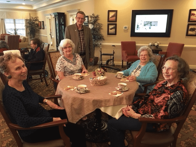 Morning Pointe, First Baptist Enjoy Tea Time