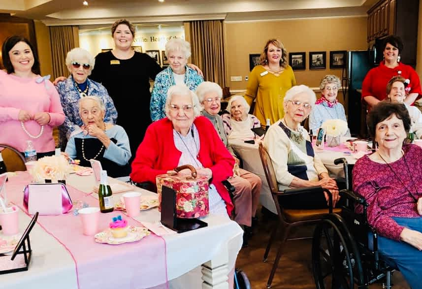 Bombshell Beauty Volunteers Treats Morning Pointe Residents to Mini Makeovers